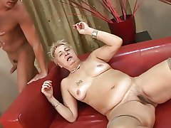 Hairy Little Titted Granny nearby Stockings Fucked
