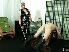 The Sadist Granny VI - orientation slapping, caning, whipping