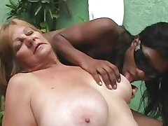 Glowering Tranny anb Blonde Granny - Part 1