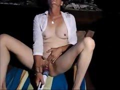 Granny Masturbates here Orgasm with Vibrator
