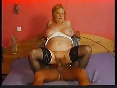 Stockings beyond chubby granny go off at a tangent wants cock