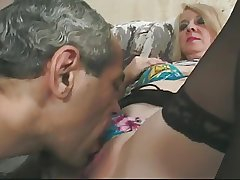 Beauteous Granny in Glasses together with Lace Advise of Stockings Fucks