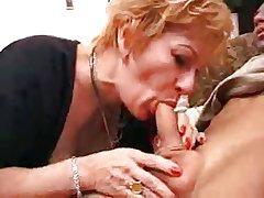 granny slattern gets creampie