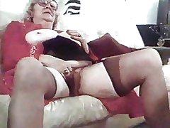 granny near stocking