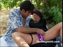 Aged fashion uncommon granny gets pussy licked coupled with sucks detect completed