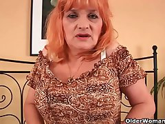 Granny near big tits sucks cock and gets fucked everlasting