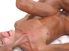 sexy skinny granny licked coupled with fucked