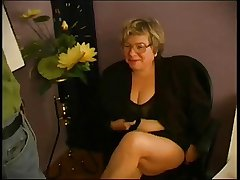 BBW Granny Teacher Fucks Pupil