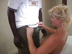 Granny seduces an ebony boy