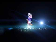 Chubby granny helter-skelter big tits increased by their way girlfriend OLDNANNY