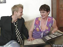 Her hairy old cunt gets drilled wide of stiff detect