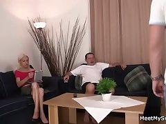 His wild parents allurement her into threesome