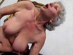 granny Norma fucks young mendicant