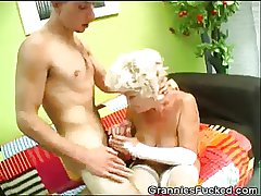 Horny Granny Rides On A Hard Cock
