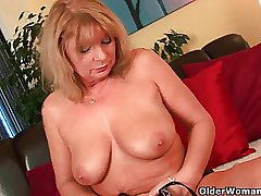 Big-busted grandma Irena heap