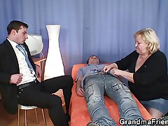 Granny double blowjob and have sexual intercourse