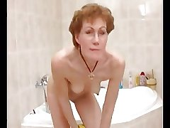 Horny German  Granny Shaves Redness Off