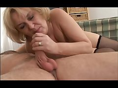 Seductive porn with old granny