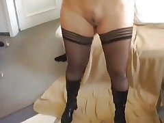 Beautiful following blond wife experiences anal