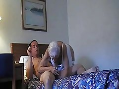 Granny sucks together with fucks