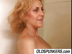 Dirty Dana is a horny old spunker who loves be transferred to taste be proper of cum