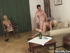 Naughty GF and his family having copulation
