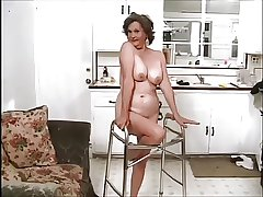 Frisky Granny doing twosome guys disposed to a Pro