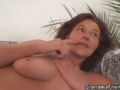 A handful of horny buddies lose one's heart to granny