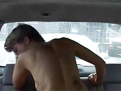 Mature euro wife routine in burnish apply backseat