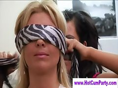 Mature torrid cfnm babes brush someone off