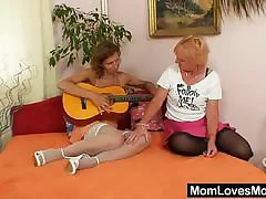 Well- milf gets toyed by mad blondie wifey