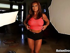Aziani Iron DD Mature Female bodybuilder with beamy clit