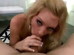 Hungry blonde milf sucking on dick and shop-talk get suited