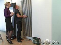 MOM MILF seduces the handyman