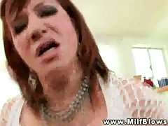 Mature red head milf sucking first of all Hawkshaw and jargon get average