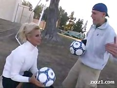 Blonde Soccer naughty Mature