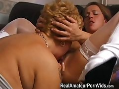 Grown up plump housewives toy and assplay