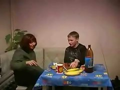 Russian Mature Mom and Son Sexual relations