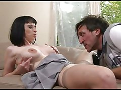 FRENCH MATURE 36 anal ill-lit mom milf and a younger cadger