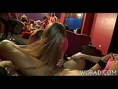 Racy blowjobs on every side strippers