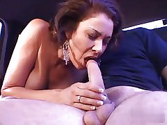 Latin matured milf fucks on every side a threesome, great facial