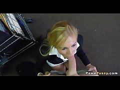 Grown-up blonde sells pussy at pawnshop 77  72