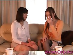 Japanese poofter housewives licking pussy
