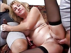 Mature Blonde Enjoys 2 Cocks And Eats Box in
