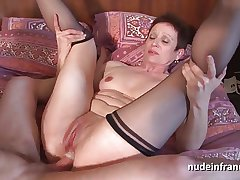 Sex-crazed french mature emulate vaginal crammed and sodomized