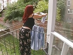 Titillating Mature Wife Distressed Space fully Hanging Laundry - Cireman