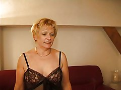 FRENCH Grown up 7 blonde progenitrix milf and a young man