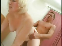 Blonde Obese Mature Mother