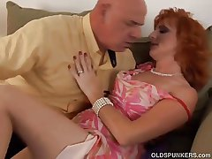Mr Big sexy mature redhead is a squirter