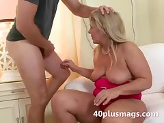 Chubby comme ci wife takes young stud